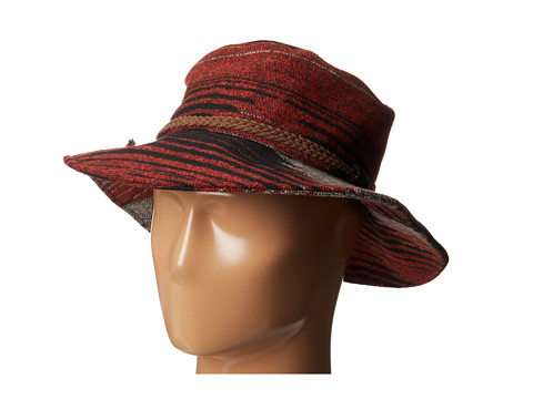 San Diego Hat Company - EBH9874 3 Brim Aztec Printed Floppy (Rust) Traditional Hats