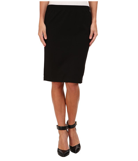 Velvet by Graham & Spencer - Frisco Ponte Pencil Skirt (Black) Women