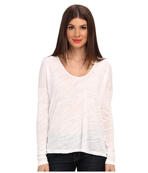 Velvet by Graham & Spencer - Brisa02 Textured Knit Top (White) Women