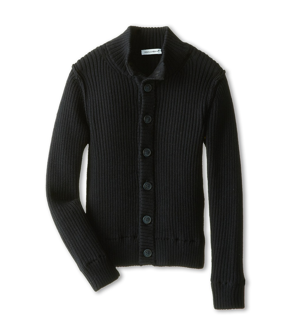 Dolce & Gabbana - Button-Up Wool Cardigan (Toddler/Little Kids) (Very Dark Blue) Men