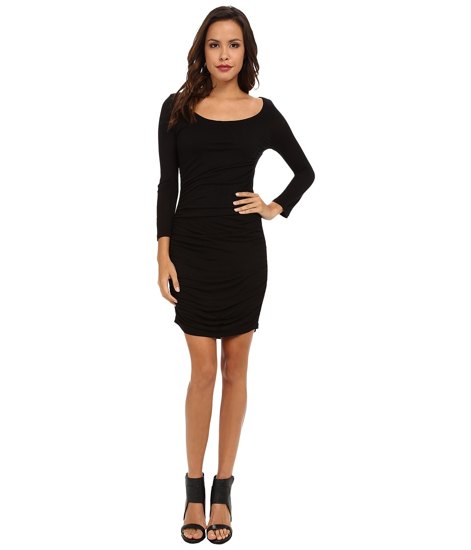 Velvet by Graham & Spencer - Nita L/S Slinky Dress (Black) Women's Dress