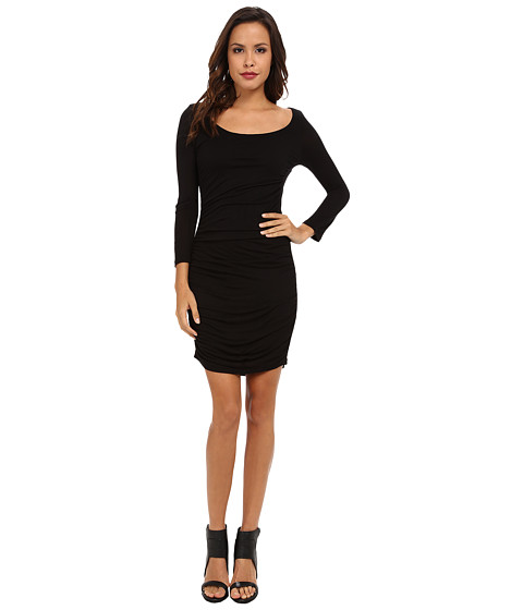Velvet by Graham & Spencer - Nita L/S Slinky Dress (Black) Women