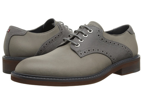 Tommy Hilfiger - Clinton (Grey) Men's Lace Up Wing Tip Shoes