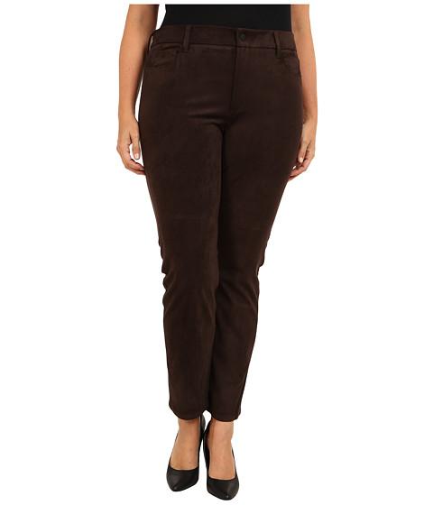 NYDJ Plus Size - Plus Size Sheri Skinny Faux Suede (Ganache) Women's Casual Pants