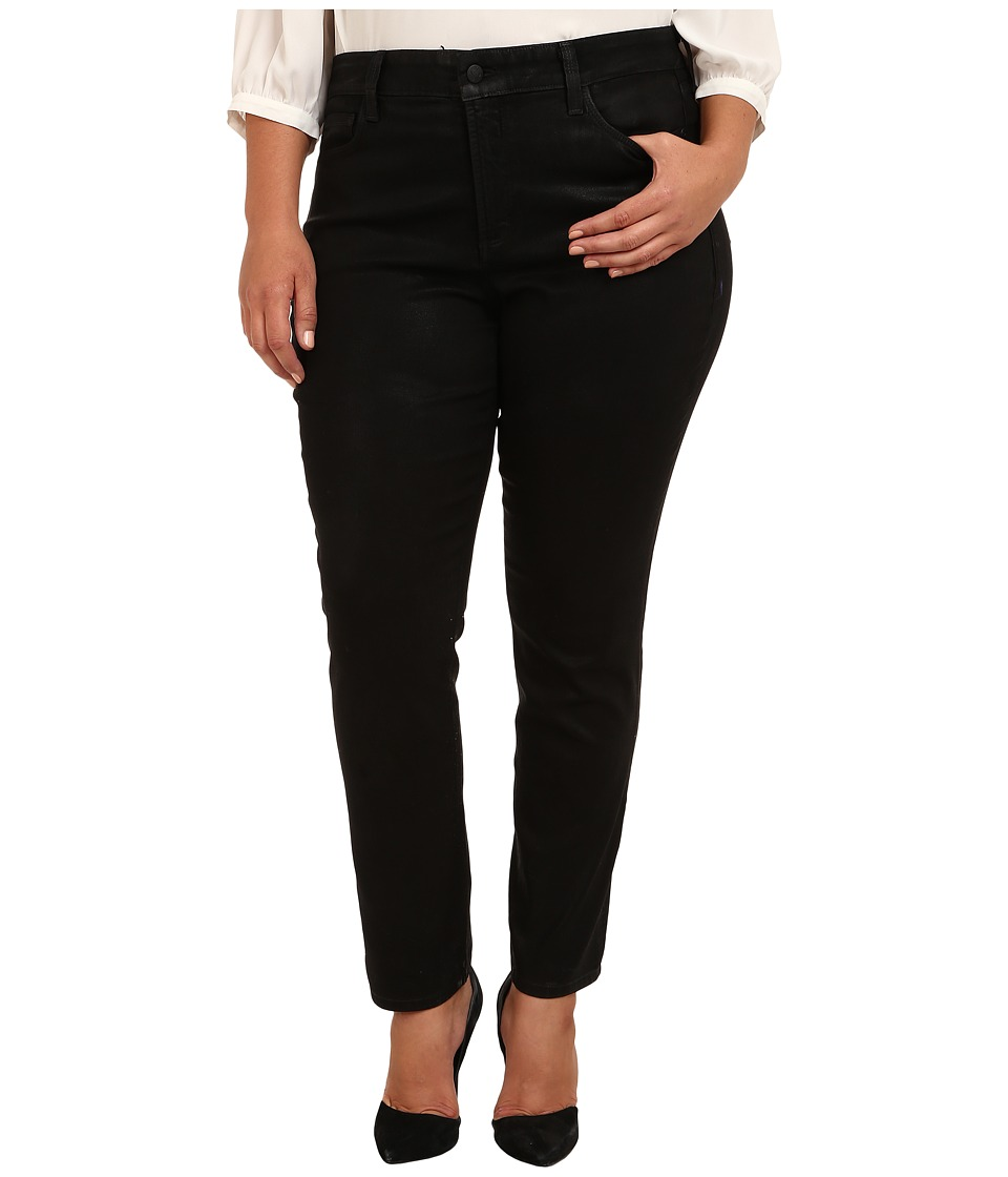 NYDJ Plus Size - Plus Size Sheri Skinny Coated Denim (Black) Women's Jeans