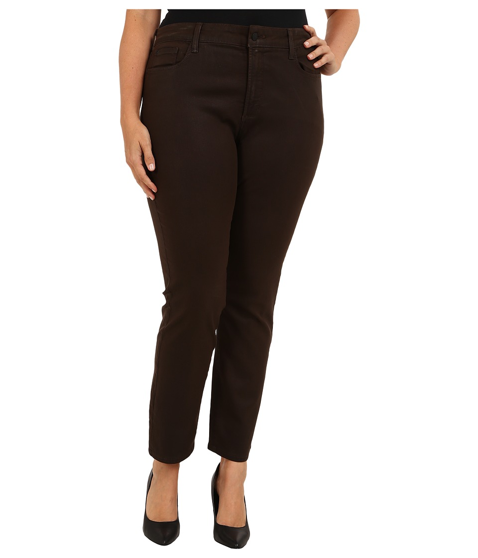 NYDJ Plus Size - Plus Size Sheri Skinny Coated Denim (Caribou) Women's Jeans