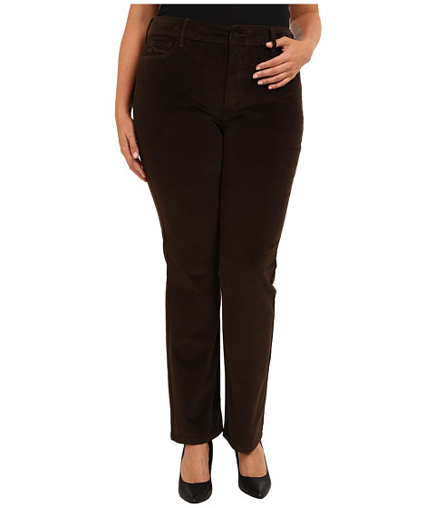 NYDJ Plus Size - Plus Size Marilyn Straight Corduroy (Caribou) Women's Casual Pants