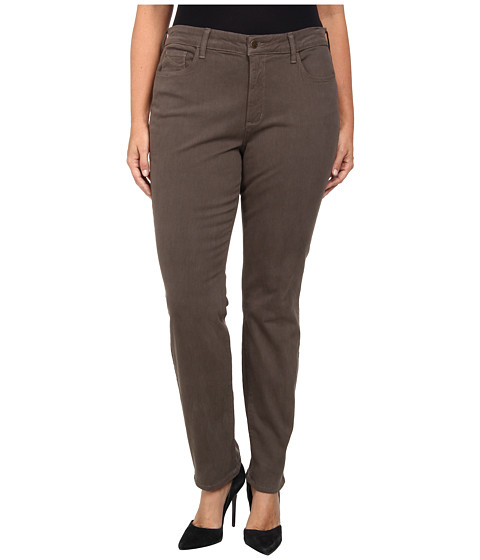 NYDJ Plus Size - Plus Size Samantha Slim Sateen in Spanish Moss (Spanish Moss) Women's Casual Pants