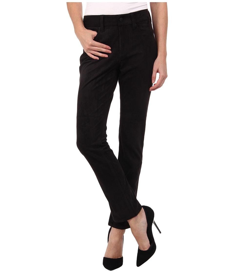 NYDJ Petite - Petite Sheri Skinny Faux Suede (Black) Women's Casual Pants plus size,  plus size fashion plus size appare