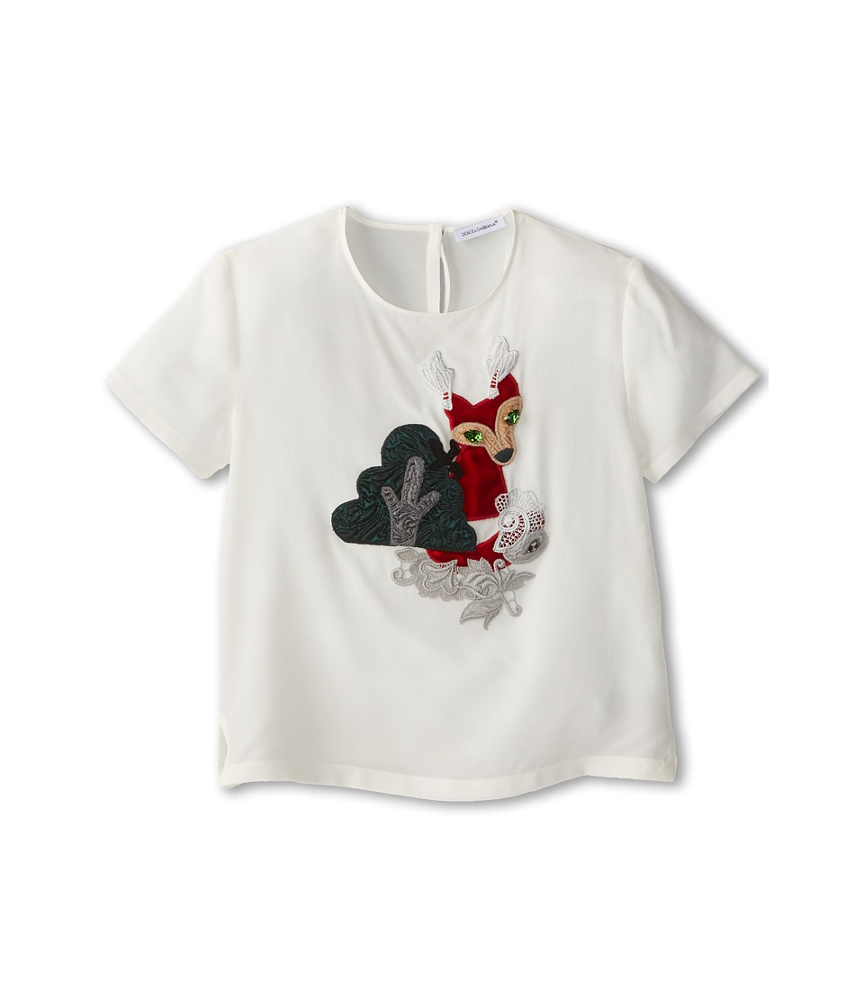 Dolce & Gabbana - Short Sleeve Graphic T-Shirt (Toddler/Little Kids) (Natural White) Women