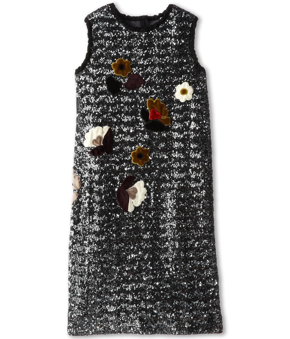 Dolce & Gabbana Kids - Sequin Shift Dress (Big Kids) (Very Dark) Girl's Dress