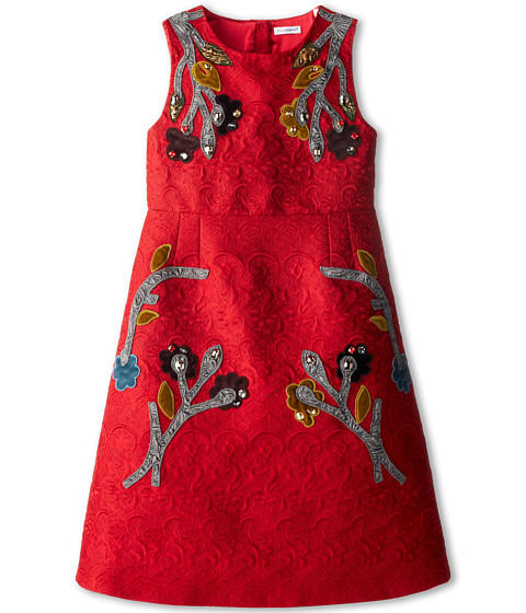 Dolce & Gabbana - Embroidered A-Line Dress (Big Kids) (Embroidered) Women's Dress