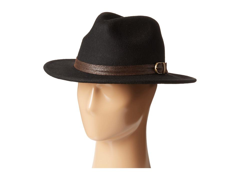 San Diego Hat Company - WFH7944 2.75 Brim Wool Felt Wide Brim Fedora (Black) Fedora Hats