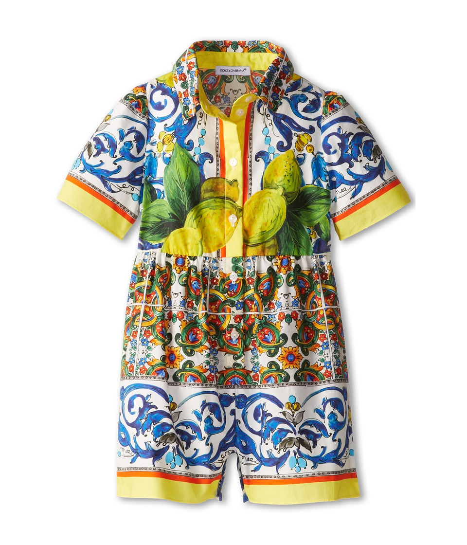 Dolce & Gabbana - Graphic Print Short Sleeve Romper (Infant) (Print) Women's Jumpsuit & Rompers One Piece