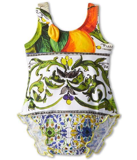 Dolce & Gabbana - Graphic Print One-Piece Swimsuit (Infant) (Print) Women