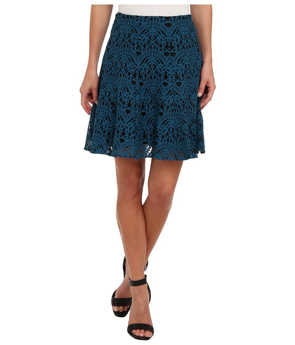 Nanette Lepore - I Spy Skirt (Cyan) Women's Skirt