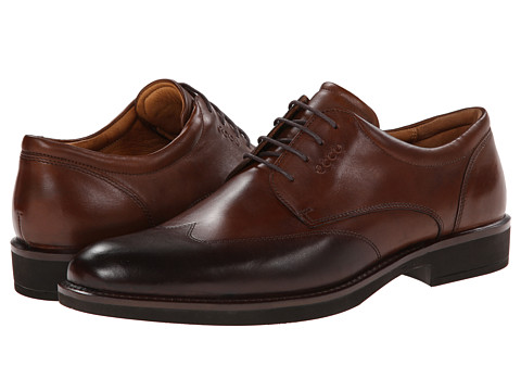 ECCO - Biarritz Trend Wing Tip (Walnut) Men's Shoes
