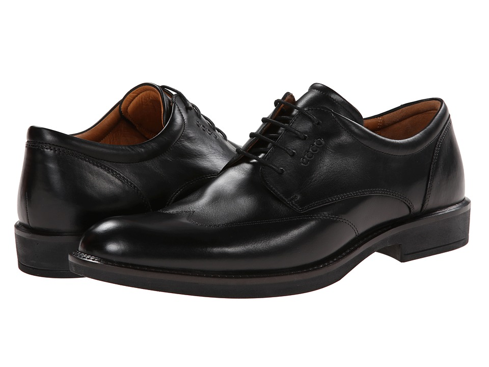 ECCO - Biarritz Trend Wing Tip (Black) Men's Shoes