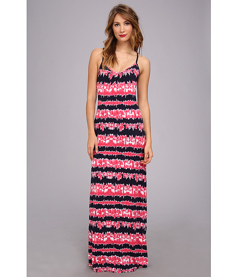 Tart - Winslet Maxi (Pink Tie Dye Stripe) Women's Dress