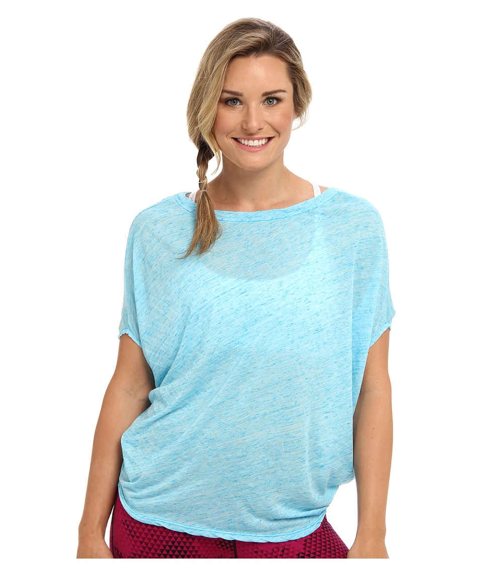 Beyond Yoga - Slouchy Top (Heather Deep Sea Blue) Women's Workout