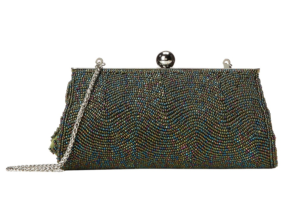 Nina - Hetta (Green Iris) Clutch Handbags