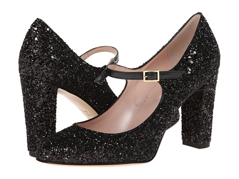 Kate Spade New York - Angelique (Black Glitter/Black Glitter Heel) High Heels
