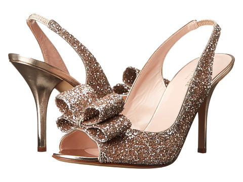 Kate Spade New York - Charm Heel (Pale Bronze Bicolor Glitter) High Heels