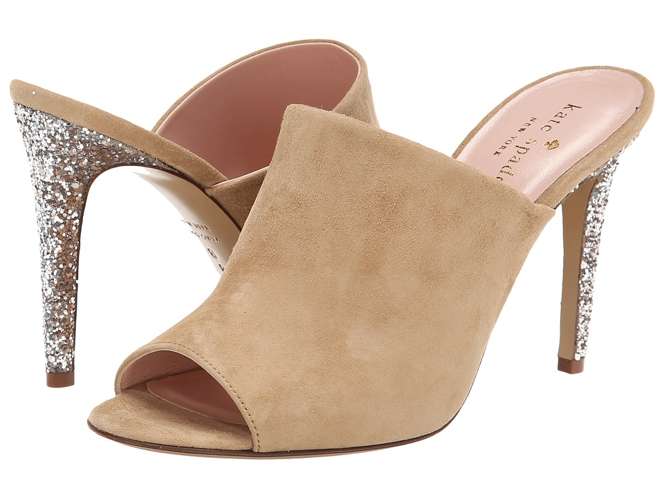 Kate Spade New York - Ilisandra (New Sand Suede/Pale Bronze Bicolor Glitter Heel) Women's Shoes