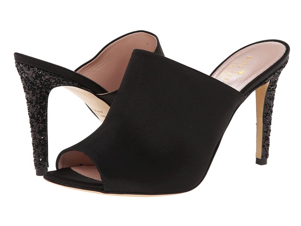 Kate Spade New York - Ilisandra (Black Satin/Black Glitter Heel) Women