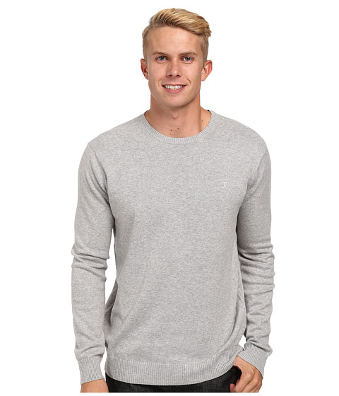 DC - Sabotage Crew Neck Sweater (Heather Grey) Men