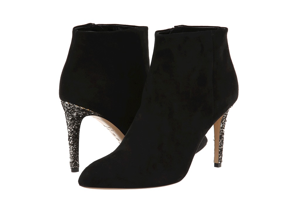 Kate Spade New York - Niko (Black Suede/Black Bicolor Glitter Heel) Women's Shoes plus size,  plus size fashion plus size appare