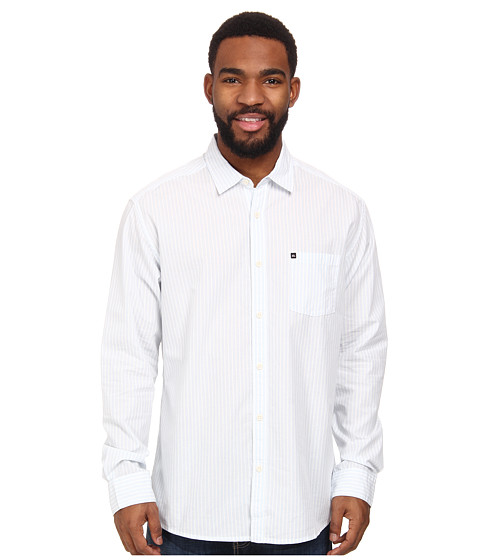 Quiksilver - Ventures Long Sleeve Woven Shirt (Icicle) Men's Long Sleeve Button Up