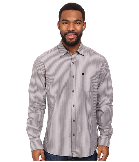 Quiksilver - Ventures Long Sleeve Woven Shirt (Metal) Men's Long Sleeve Button Up