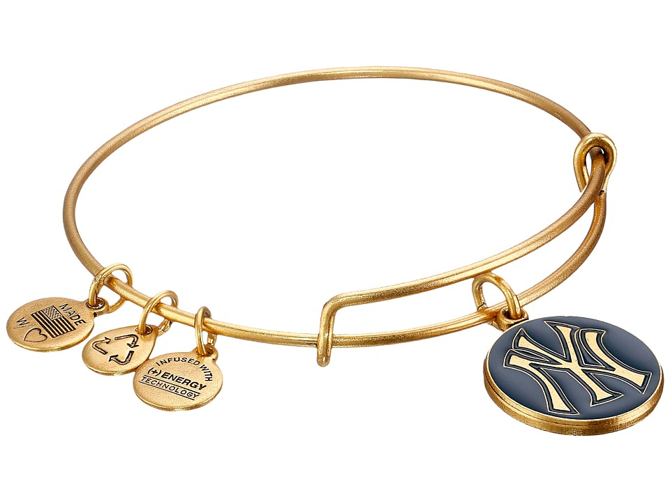 Alex and Ani - MLB New York Yankees Charm Bangle (Rafaelian Gold Finish/Navy Charm) Bracelet