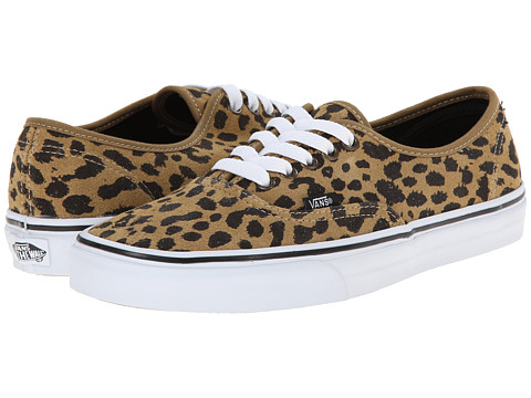 Vans - Authentic ((Leopard Suede) Dark Khaki) Skate Shoes