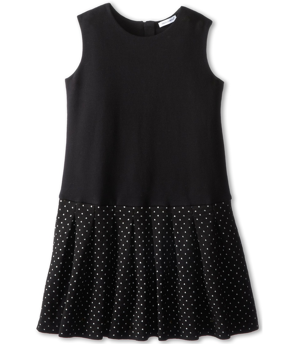Dolce & Gabbana Kids - Sleeveless Polka Dot Flared Dress (Toddler/Little Kids) (Multi) Girl's Dress