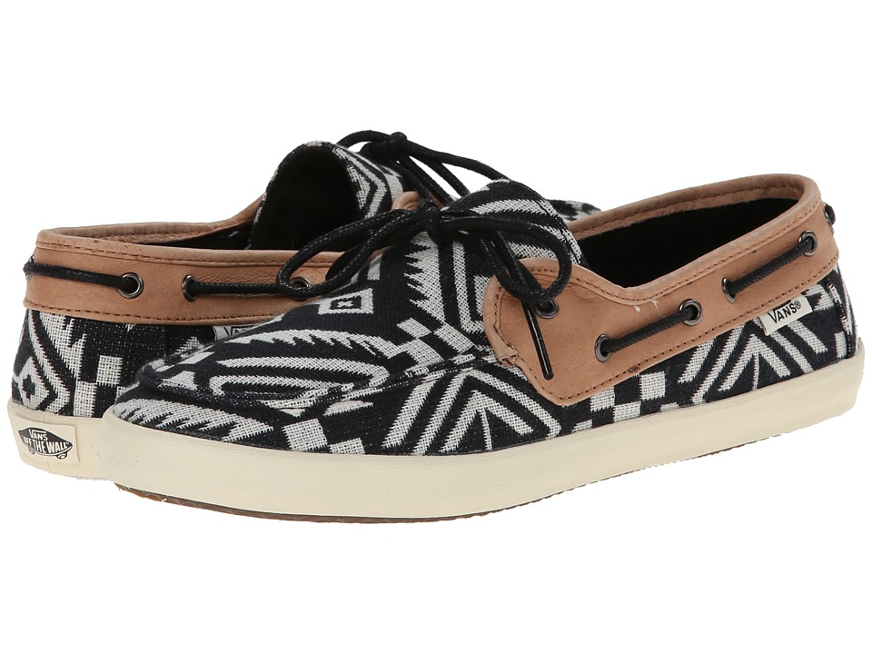 Vans - Chauffette W ((Aztec) Black/Brown Sugar) Women's Lace up casual Shoes