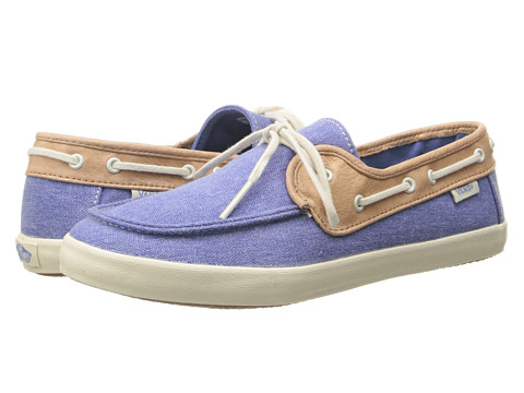 Vans - Chauffette W ((C&L) Riviera Blue/Brown Sugar) Women's Lace up casual Shoes