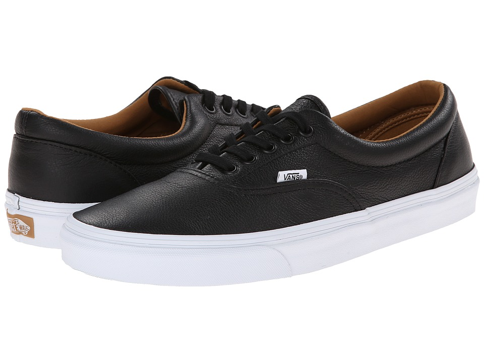 Vans - Era ((Premium Leather) Black) Skate Shoes