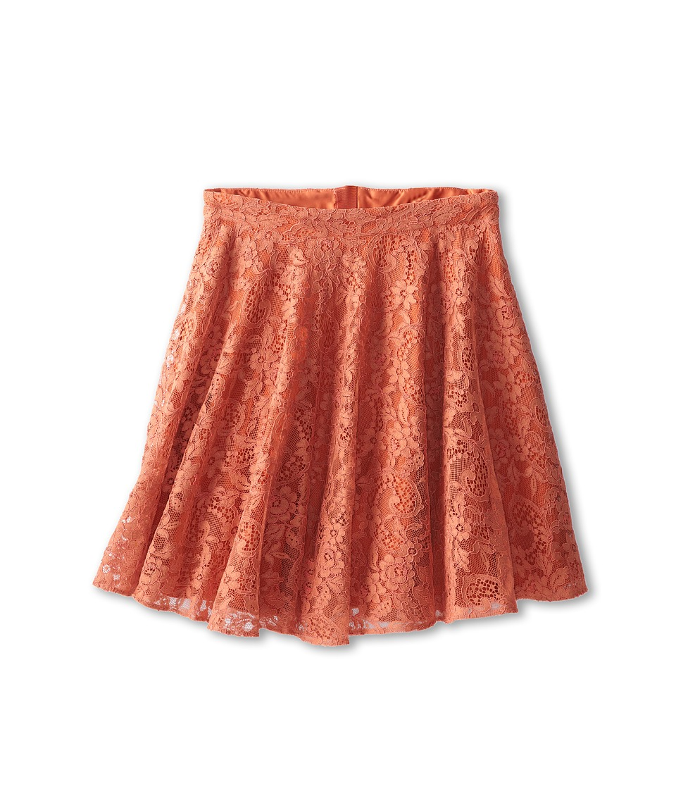 Dolce & Gabbana - Lace Flared Skirt (Big Kids) (Dark Brick Red) Women's Skirt