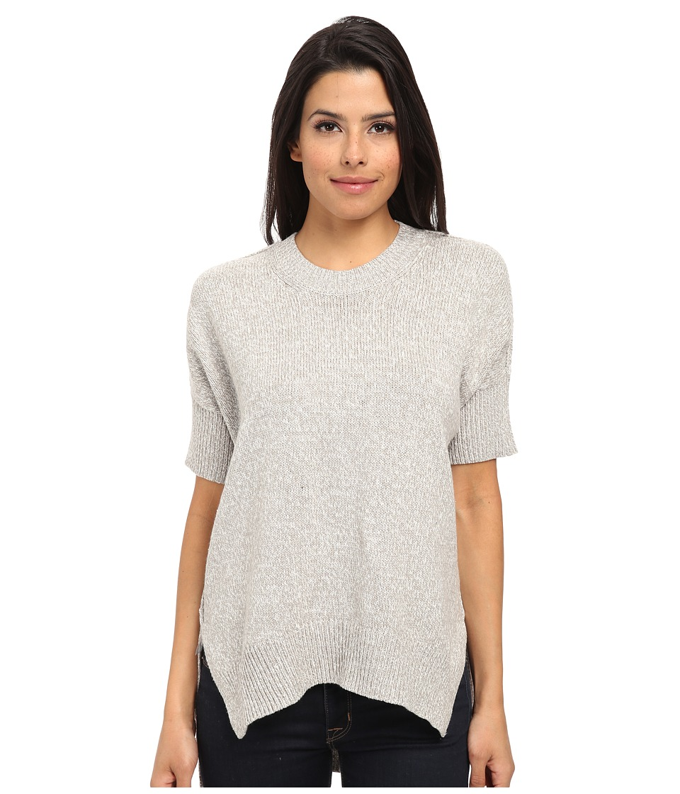 BCBGeneration Round Neck Dolman Sweater (Marled Silver) Women