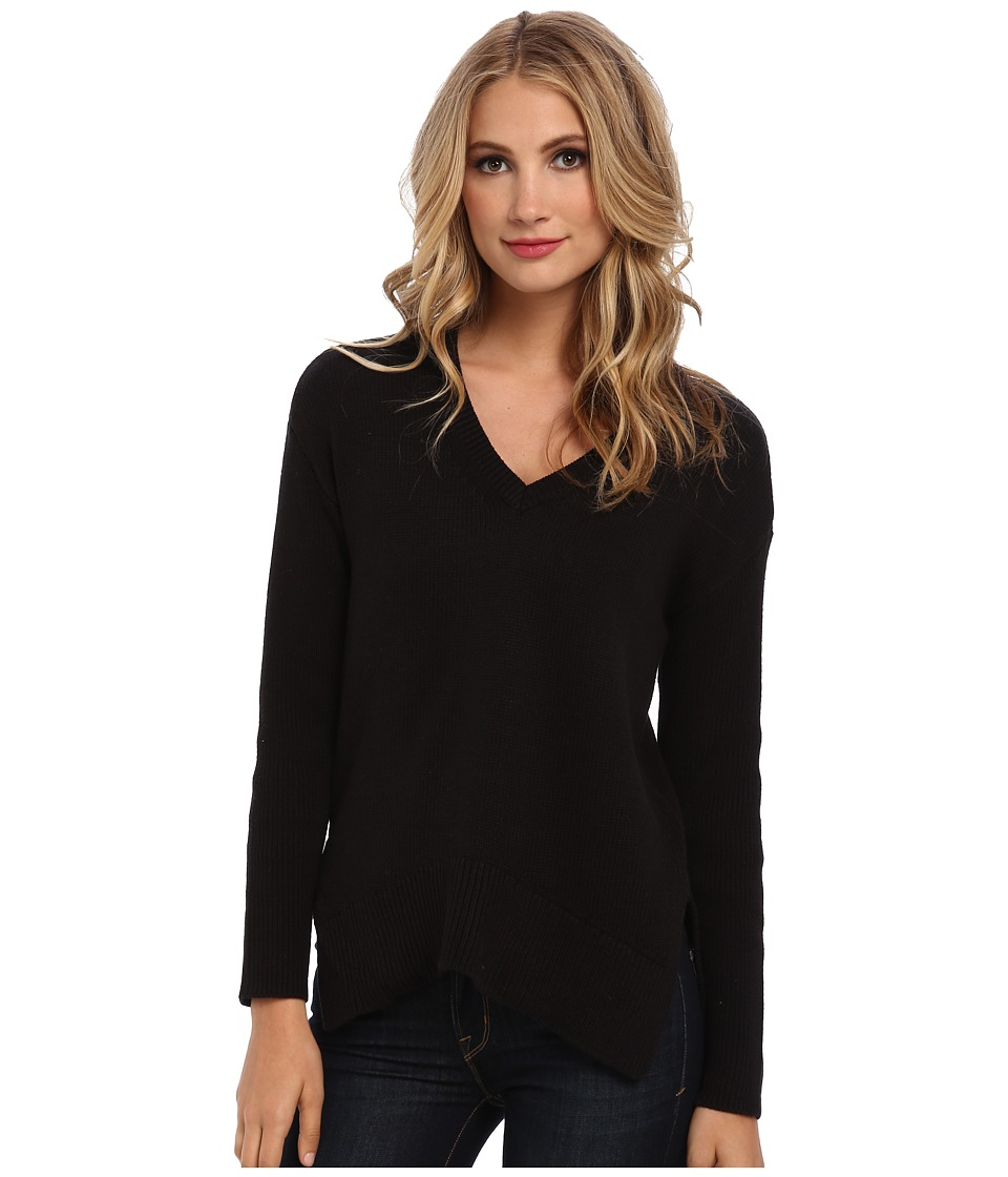 BCBGeneration - Long-Sleeve V-Neck Sweater (Black) Women