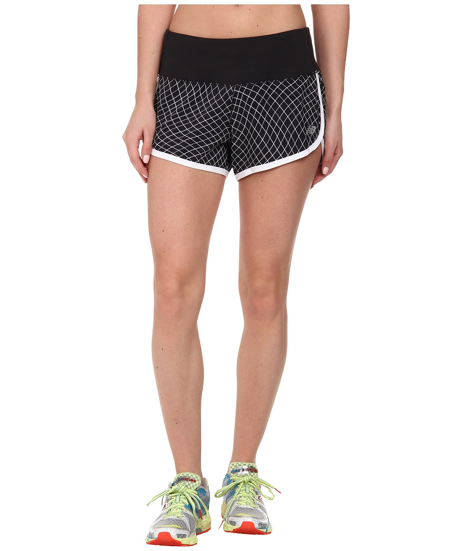 New Balance - Impact 3.5 Short Graphic (Black/White/Fiji) Women's Workout