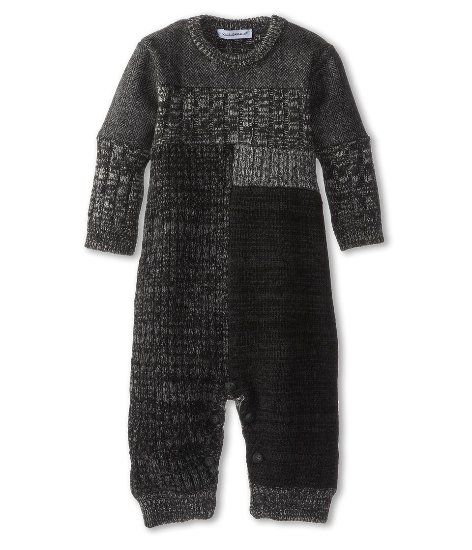 Dolce & Gabbana - Colorblock Long Sleeve Wool Track Suit (Infant) (Fantasy) Men's Jumpsuit & Rompers One Piece