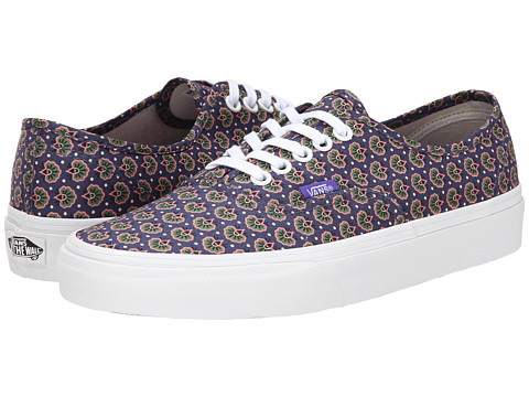 Vans - Authentic ((Liberty) Floral/Navy) Skate Shoes
