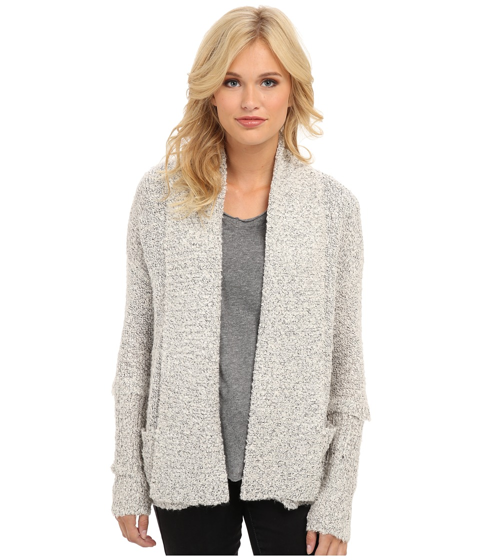BCBGeneration - L/S Kimono Cardigan (Whisper White Combo) Women's Sweater