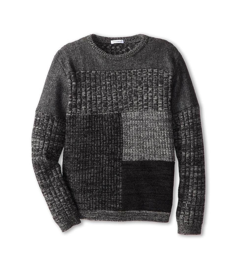 Dolce & Gabbana - Colorblock Crewneck Sweater (Big Kids) (Fantasy) Men