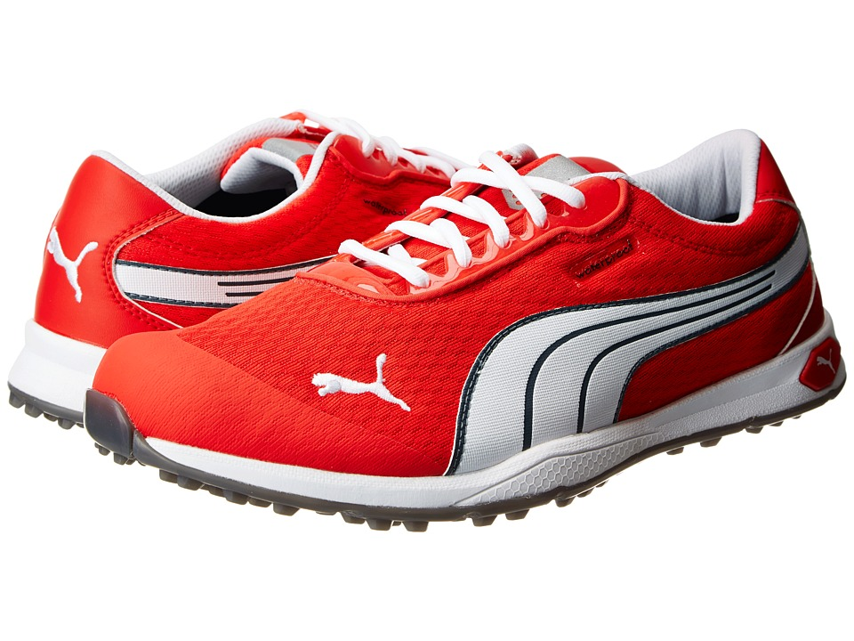 PUMA Golf - Biofusion Spikeless Mesh (Grenadine/White/Turbulence) Men's Golf Shoes