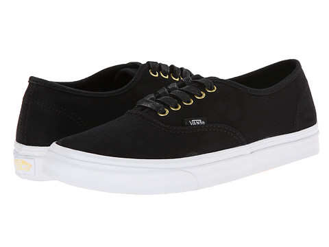 Vans - Authentic Slim ((Gold Pop) Twill/Black) Skate Shoes