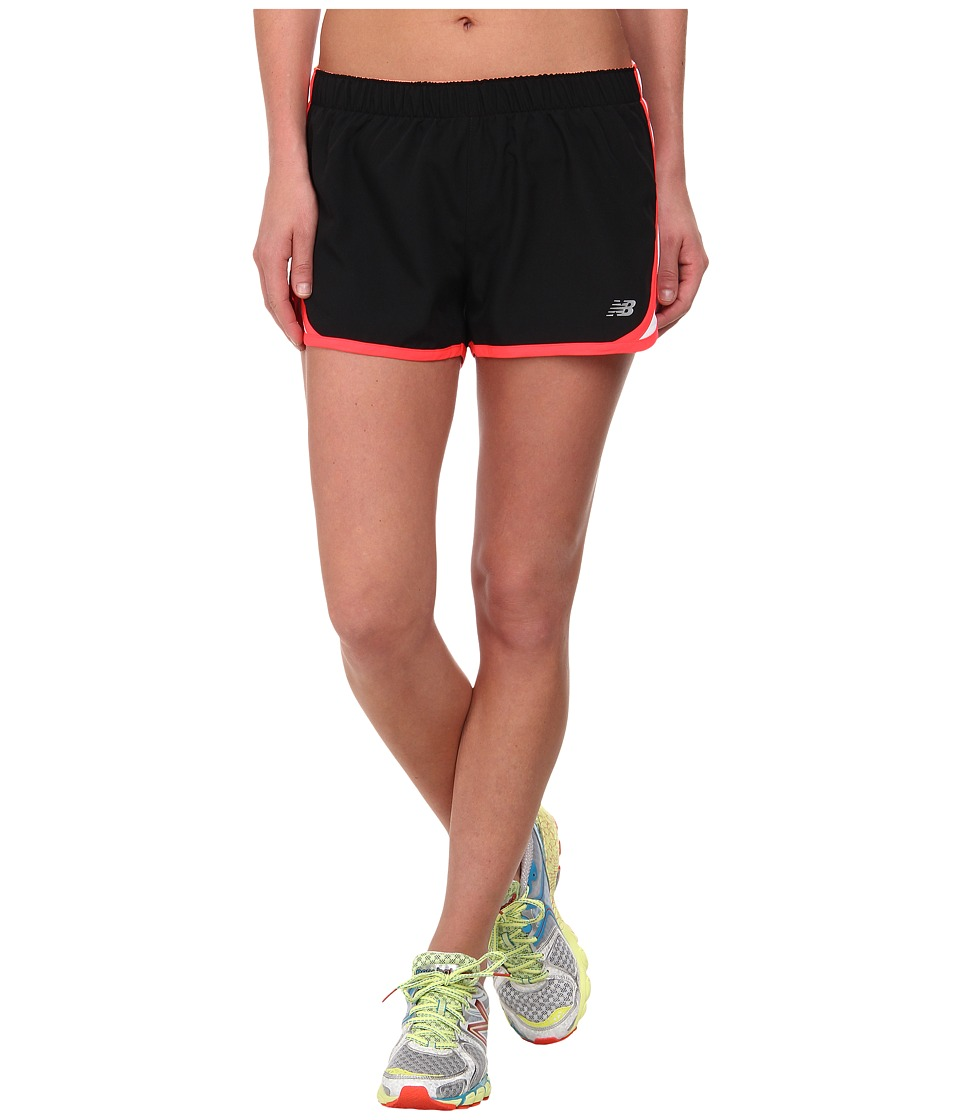 New Balance - Accelerate Short (Black/Bright Cherry/White/Fiji) Women's Workout